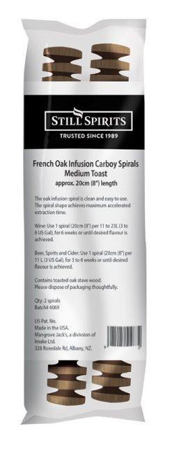 Still Spirits French Oak Medium Toast Carboy Spiral