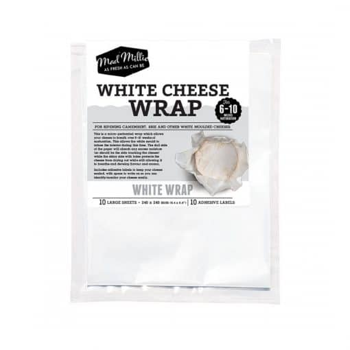 Mad Millie White Cheese Wrap - 240x240 - 10 Sheets