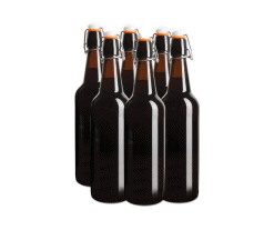 Flip Top Glass Bottles - 6 x 750ml