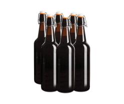 Flip Top Glass Bottles - 6 x 750ml